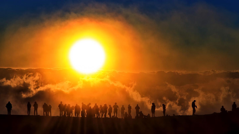 Sunset on Mount Haleakala